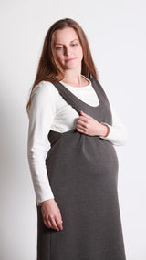Jazmin Breastfeeding Pinafore Dress - EGG Maternity NZ Ltd