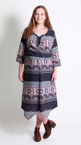 Alexa Aztec Print Maternity Dress - EGG Maternity NZ Ltd
