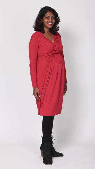 Lalia Maternity Knot Dress