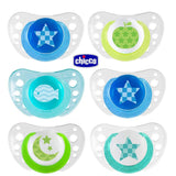 Chicco Physio Air Soother 6-16m 2pk Boy