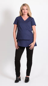 Kara Breastfeeding Overlay Tunic Top - EGG Maternity NZ Ltd
