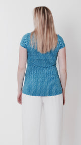 maternity and breastfeeding blue top