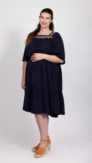 Bohemian Maternity Maxi Belt Dress - EGG Maternity NZ Ltd