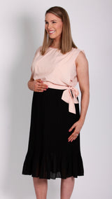Emmy Breastfeeding Pleat Chiffon Dress - EGG Maternity NZ Ltd