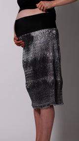 Egg Maternity Silver Midi Skirt