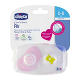 Chicco Physio Air Soother 0-6m 2pk Girl