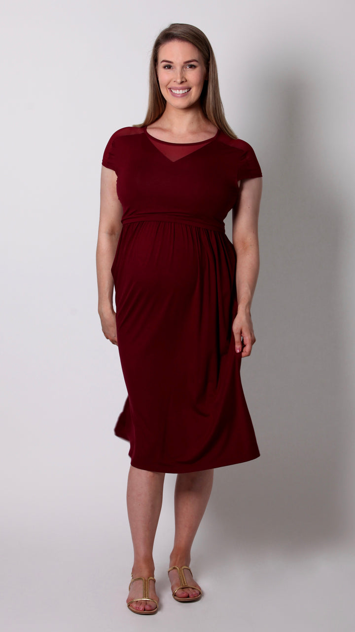 Chloe Breastfeeding V-Neck Dress - EGG Maternity NZ Ltd
