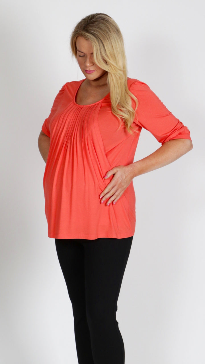 Mandy Breastfeeding Blouse Top - EGG Maternity NZ Ltd
