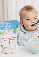 Bellamy's Organic Apple & Cinnamon Baby Porridge 6m+, 125g (Buy 5 get 1 free) - EGG Maternity NZ Ltd