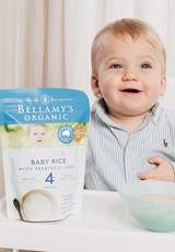 Bellamy's Organic Baby Rice with GOS 4m+, 125g (Buy 5 get 1 free) - EGG Maternity NZ Ltd