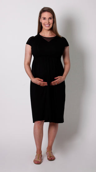 Chloe Breastfeeding V-Neck Dress
