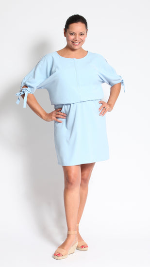 Xenia Breastfeeding Tie Sleeve Dress