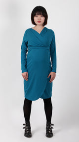 Sara Breastfeeding Crossover Dress Bamboo Fibre - EGG Maternity NZ Ltd