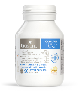 Bio Island Cod Liver + Fish Oil for Kids 90 Caps - EGG Maternity NZ Ltd