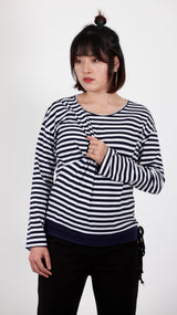 Abri Striped Breastfeeding Long Sleeved Top - EGG Maternity NZ Ltd