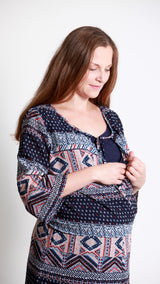 Alexa Aztec Print Dress - EGG Maternity NZ Ltd