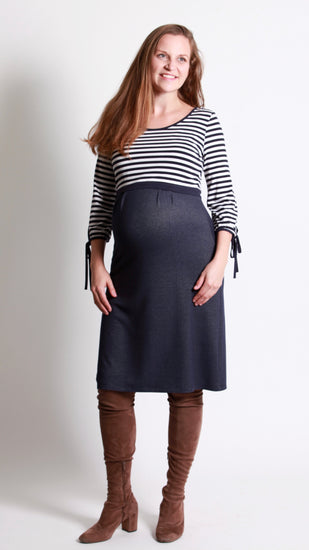 Gina Breastfeeding Tie Sleeve Dress - EGG Maternity NZ Ltd