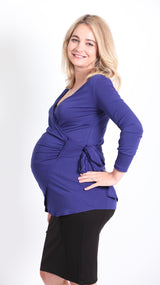Paris Maternity Wrap Top - EGG Maternity NZ Ltd