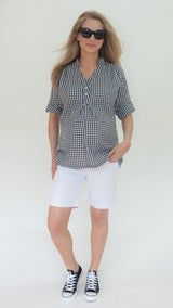 maternity white short