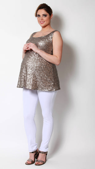 Armida Maternity Sequin Tank - EGG Maternity NZ Ltd