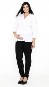 Egg Slim Leg Maternity Black Trouser - EGG Maternity NZ Ltd