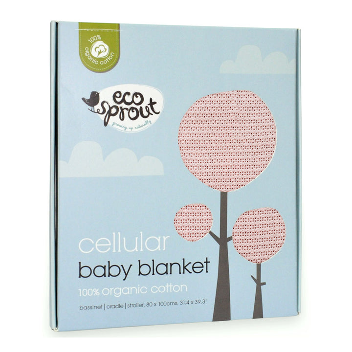 Organic Baby Blanket - Powder Pink- Bassinet