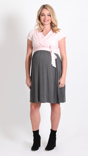 Jolanda Breastfeeding Bow Tie Dress