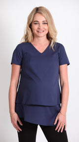 Kara Breastfeeding Overlay Tunic Top