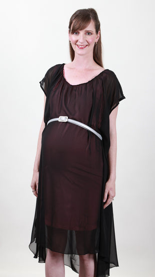 maternity chiffon dress