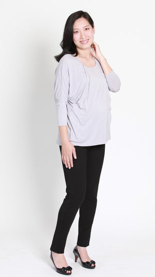 Zarah Pleat Nursing Top