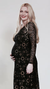 Oria Maternity Maxi Party Dress - EGG Maternity NZ Ltd