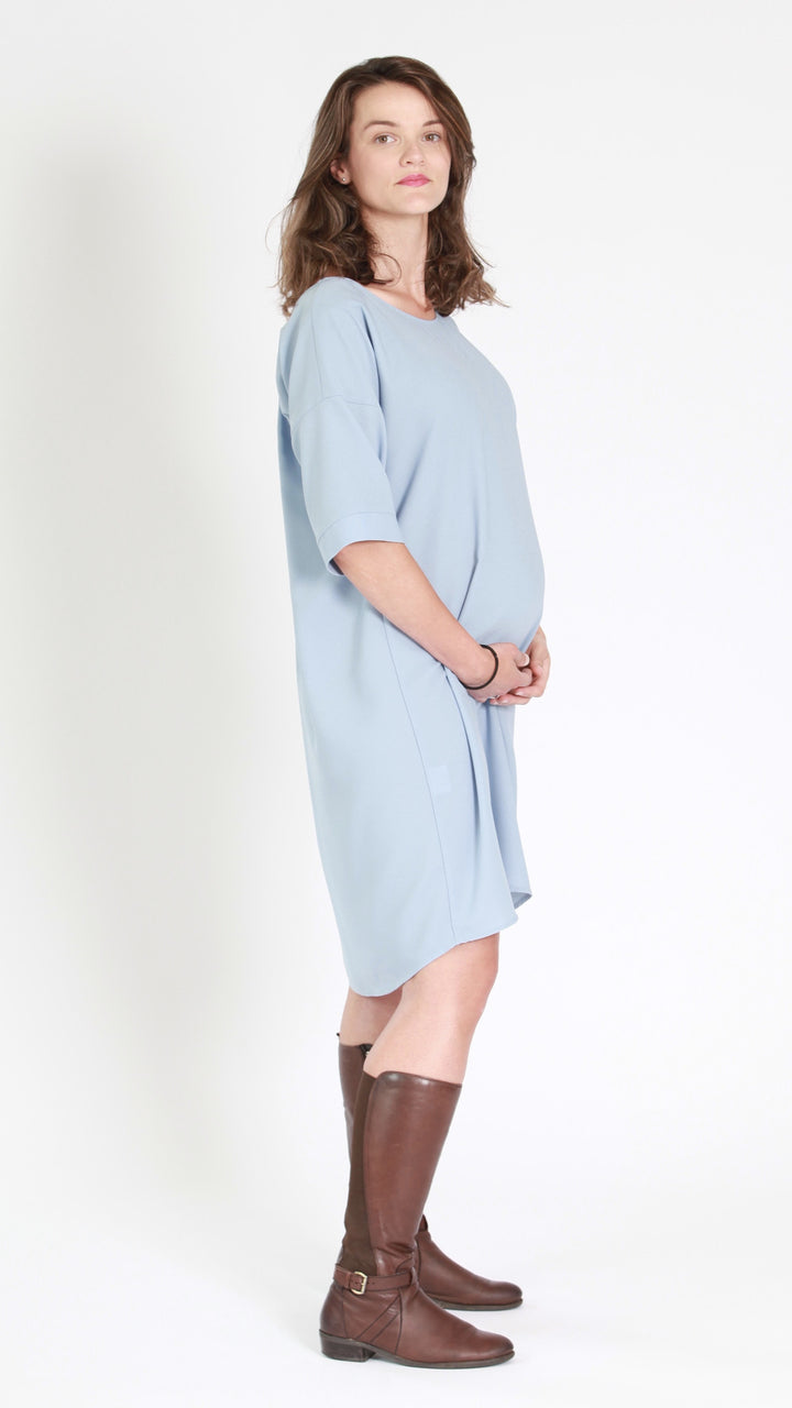 Aria back to front maternity dress egg maternity nz ltd maternity blue dress ombrellifo Images