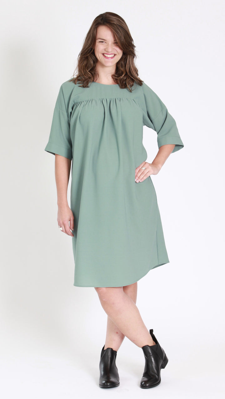 maternity green dress