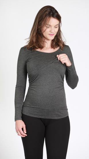 Chiara Gathered Nursing Top