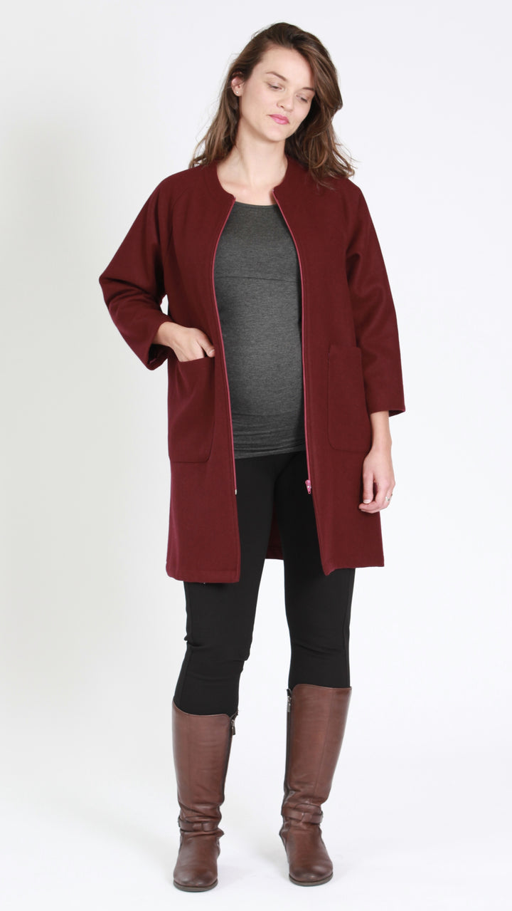 Dolca Maternity Zip Coat - EGG Maternity NZ Ltd