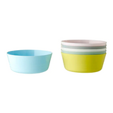 IKEA KALAS Bowl, 6 mixed colours