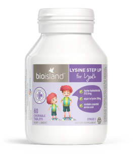 Bio Island Lysine Step Up for Youth 60 Tablets - EGG Maternity NZ Ltd