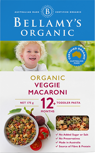 Bellamy's Organic Veggie Macaroni 12m+, 200g - EGG Maternity NZ Ltd