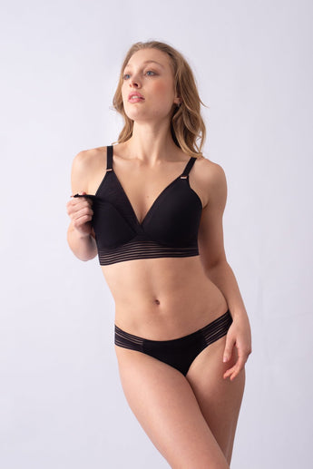 Ambition Triangle Black Contour Wirefree Nursing Bra