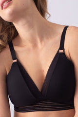 Ambition Triangle Black Contour Wirefree Nursing Bra - EGG Maternity NZ Ltd