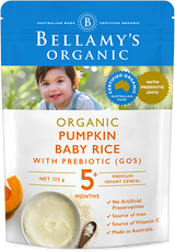 Bellamy's Organic Pumpkin Baby Rice with Prebiotic 5m+, 125g (Buy 5 get 1 free) - EGG Maternity NZ Ltd