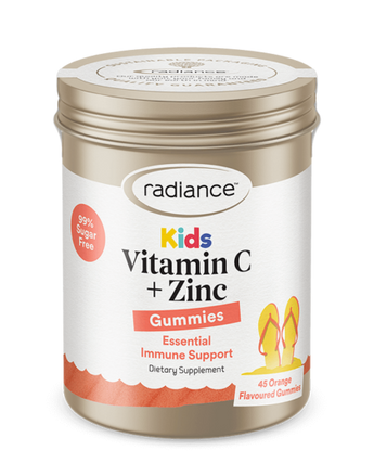 Radiance Kids Vitamin C + Zinc Gummies 45s