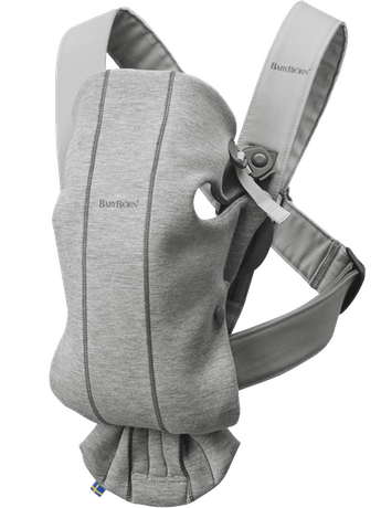 BabyBjorn Baby Carrier Mini 3D Jersey- Light Grey