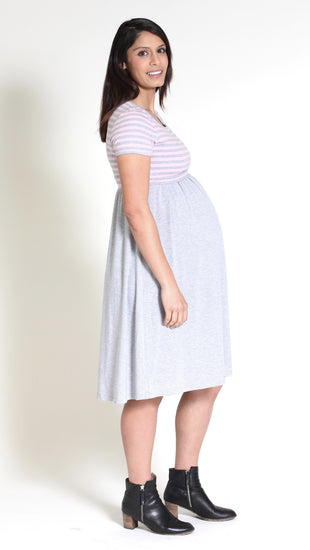 Adona Nursing Stripe Dress
