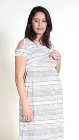 Ambra Nursing Cut- Out Dress - EGG Maternity NZ Ltd