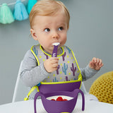 B.Box Travel Bib & Spoon- Cactus Capers - EGG Maternity NZ Ltd