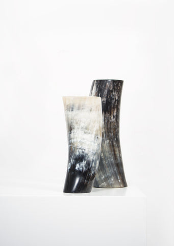 Ankole Horn Dark Vase - Black Sheep (White Light)