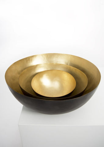 Hand Hammered Brass Bowl - Black Sheep (White Light)