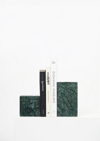 Empress Green Marble Asymmetric Book Ends