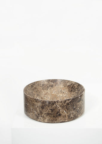 Dark Emperador Marble Deep Dish - Black Sheep (White Light)